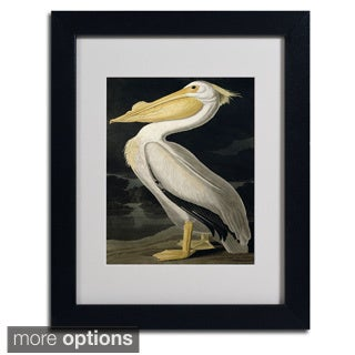 John James Audubon 'American White Pelican' Framed Matted Art
