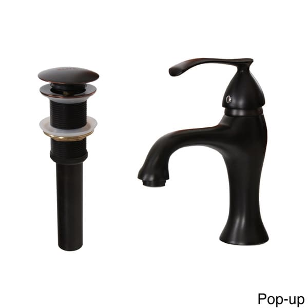 Elite Single Handle Oil Rubbed Bronze Bathroom Sink Faucet With Pop Up Drain