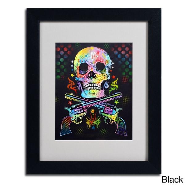 Dean Russo Skull And Guns Framed Matted Art Free