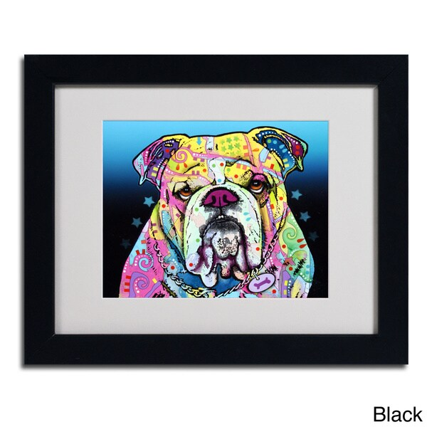 Dean Russo The Bulldog Framed Matted Art Free Shipping