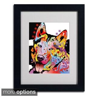 Dean Russo 'Siberian Husky' Framed Matted Art