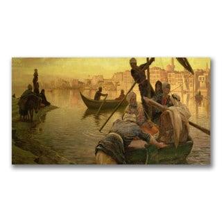 Joseph Farquharson 'Ferry from the Island' Canvas Art