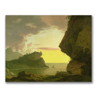 Joseph Wright of Derby 'Sunset of the Coast' Canvas Art