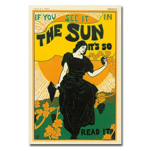 Louis Rhead 'The Sun Newspaper' Canvas Art