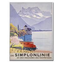 Emil Cardinaux 'Die Simplonline' Canvas Art