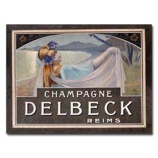 Louis Chalon 'Champagne Delbeck' Canvas Art