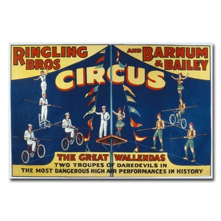 Unknown 'Ringling Brothers and Barnam & Bailey Circus' Canvas Art - Multi