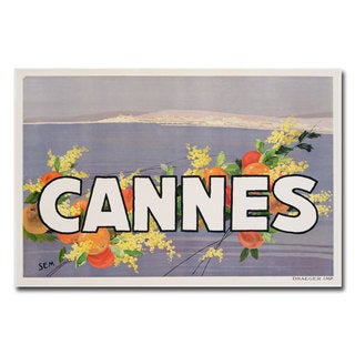 Georges Goursat 'Cannes' Canvas Art