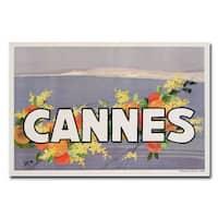 Georges Goursat 'Cannes' Canvas Art - Multi