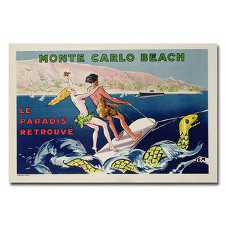 Georges Goursat 'Monte Carlo' Canvas Art