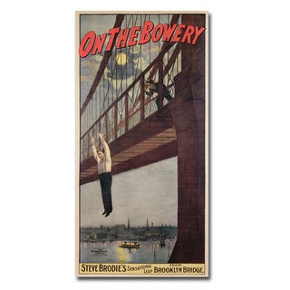 Unknown 'Steve Brodie's Leap from the Brooklyn Bridge' Canvas Art