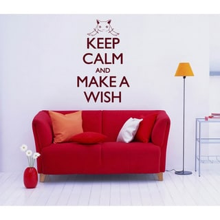 Keep Calm and Make a Wish Vinyl Wall Decal
