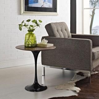 'Tulip' Black Wood Top Slender Side Table