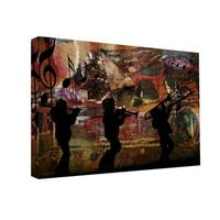 Ready2HangArt 'Jazz Trio' Oversized Canvas Wall Art - Multi-color