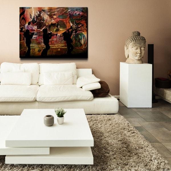 Ready2HangArt U0026#x27;Jazz Triou0026#x27; Oversized Canvas Wall Art ...