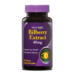 Natrol Bilberry Extract 40mg Dietary Supplement (60 Capsules)