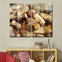 Ready2HangArt 'Never Enough Corks' 2-piece Oversized Canvas Wall Art - Brown