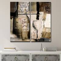 Ready2HangArt 'Fine Reserve' 2-piece Oversized Canvas Wall Art - Brown