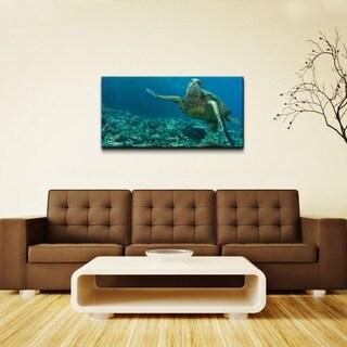 Chris Doherty 'Maui Turtle Stony' Oversized Canvas Wall Art