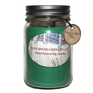 Handmade Reindeer Poo Premium Pure Soy Container Candle