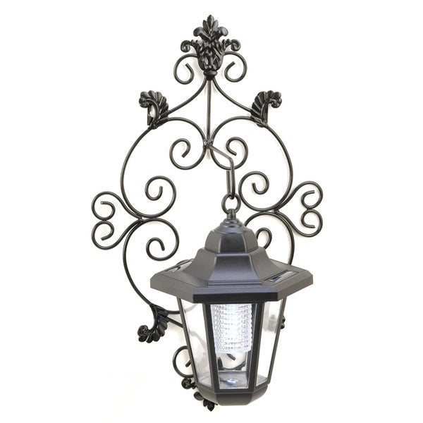 shop solar garden wall lantern free shipping on orders over 45 8529429. Black Bedroom Furniture Sets. Home Design Ideas
