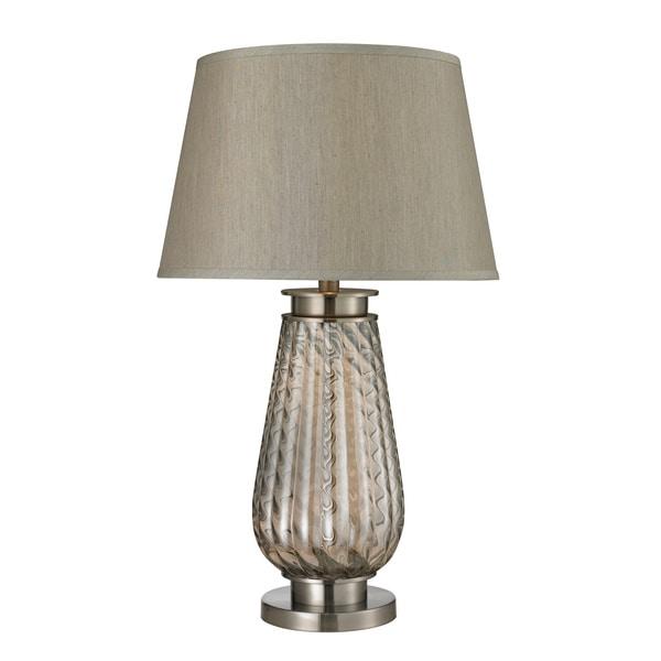 1-Light Barley Twist Glass Table Lamp