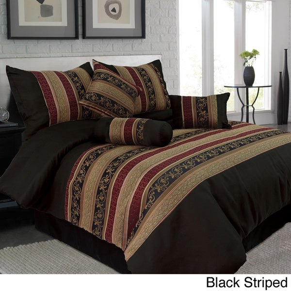 Windsor Home 7-piece Paisley and Striped Design Comforter Set