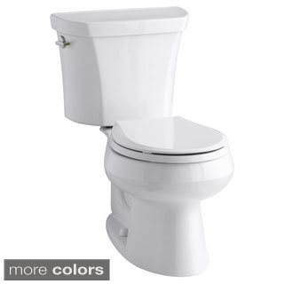 Kohler 'Wellworth' 2-piece Round-Front Dual-Flush Toilet With Left-Hand Trip Lever