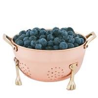 Old Dutch 6-inch Copper Plated Berry Colander