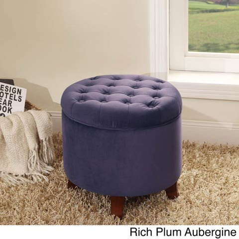 Carson Carrington Ronde Large Round Storage Ottoman