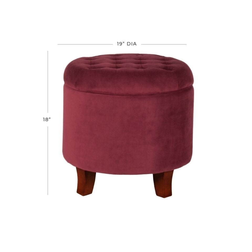 Carson Carrington Ronde Large Round Storage Ottoman On Sale Overstock 8530397