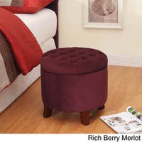 Palm Canyon Merced Large Round Storage Ottoman