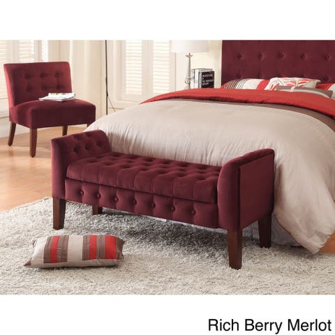 Copper Grove Chugach Velvet Tufted Storage Bench / Settee