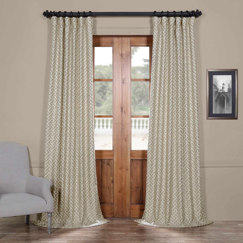 Exclusive Fabrics Zeus Stone Embroidered Jacquard Curtain...