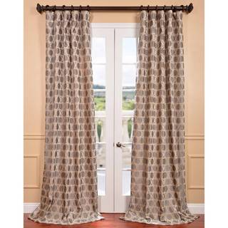 Exclusive Fabrics Copenhagen Natural Jacquard Curtain Panel