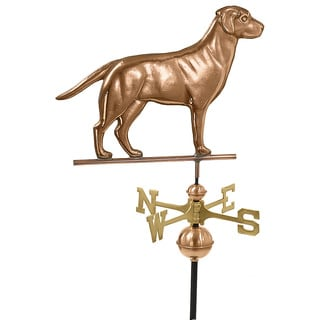 Labrador Retriever Pure Copper Weathervane by Good Directions