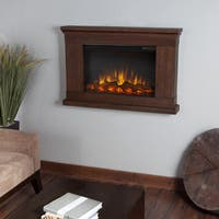 Real Flame 'Jackson' Vintage Black Maple 38.4 in. W x 6.1 in. D x 26.1 in. H Electric Fireplace