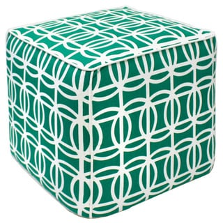 Green Maze Pouf Ottoman (India)