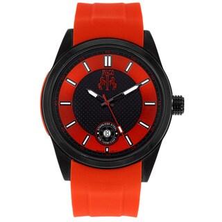 Jivago Men's Rush Red Rubber Strap Watch