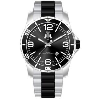 Jivago Men's Ultimate Black/ Silver Two-tone Watch