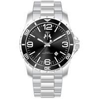 Jivago Men's Ultimate Black/ Silver Watch