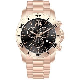 Jivago Men's Ultimate Black-dial Chronograph Watch