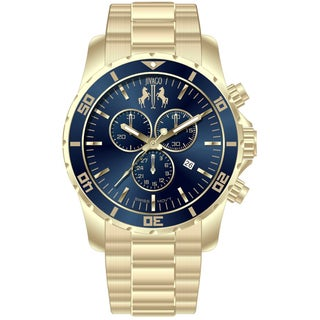 Jivago Men's Ultimate Blue-dial Chronograph Watch