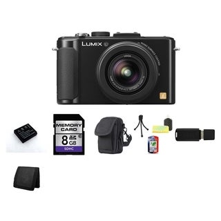 Panasonic Lumix DMC-LX7 10.1MP Black Digital Camera 8GB Bundle