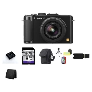 Panasonic Lumix DMC-LX7 10.1MP Black Digital Camera 8GB Bundle
