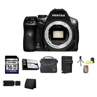 Pentax K-30 16.3MP Black DSLR Camera Body Only 16GB Bundle