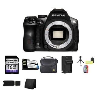 Pentax K-30 16.3MP Black DSLR Camera Body Only 16GB Bundle