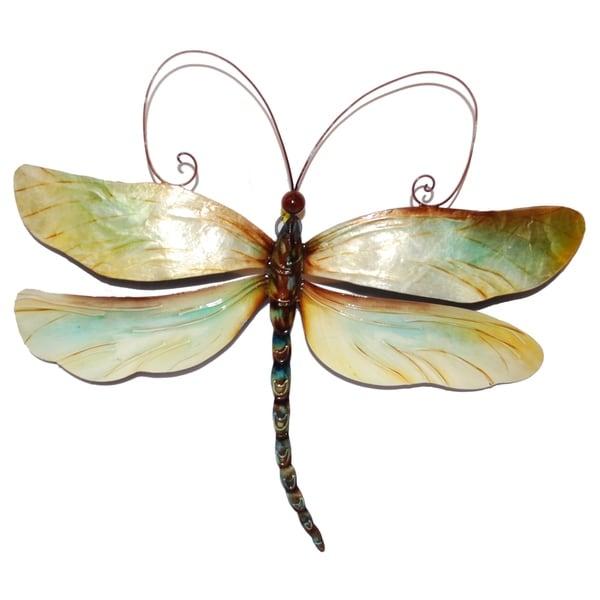 ffb4851bc81 Shop Handmade Metal and Capiz Dragonfly Wall Decor - On Sale - Free ...