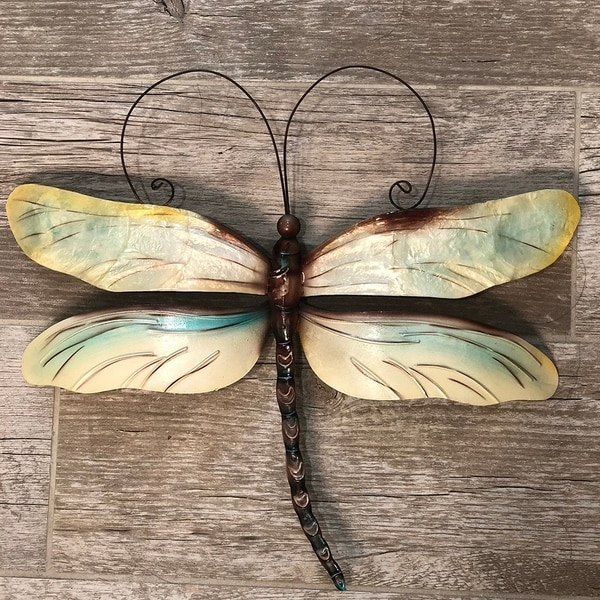 762ecc215e19 Shop Handmade Metal and Capiz Dragonfly Wall Decor - On Sale - Free ...