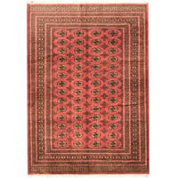 Handmade Herat Oriental Pakistani Prince Bokhara Wool Rug  - 6' x 9' (Pakistan)